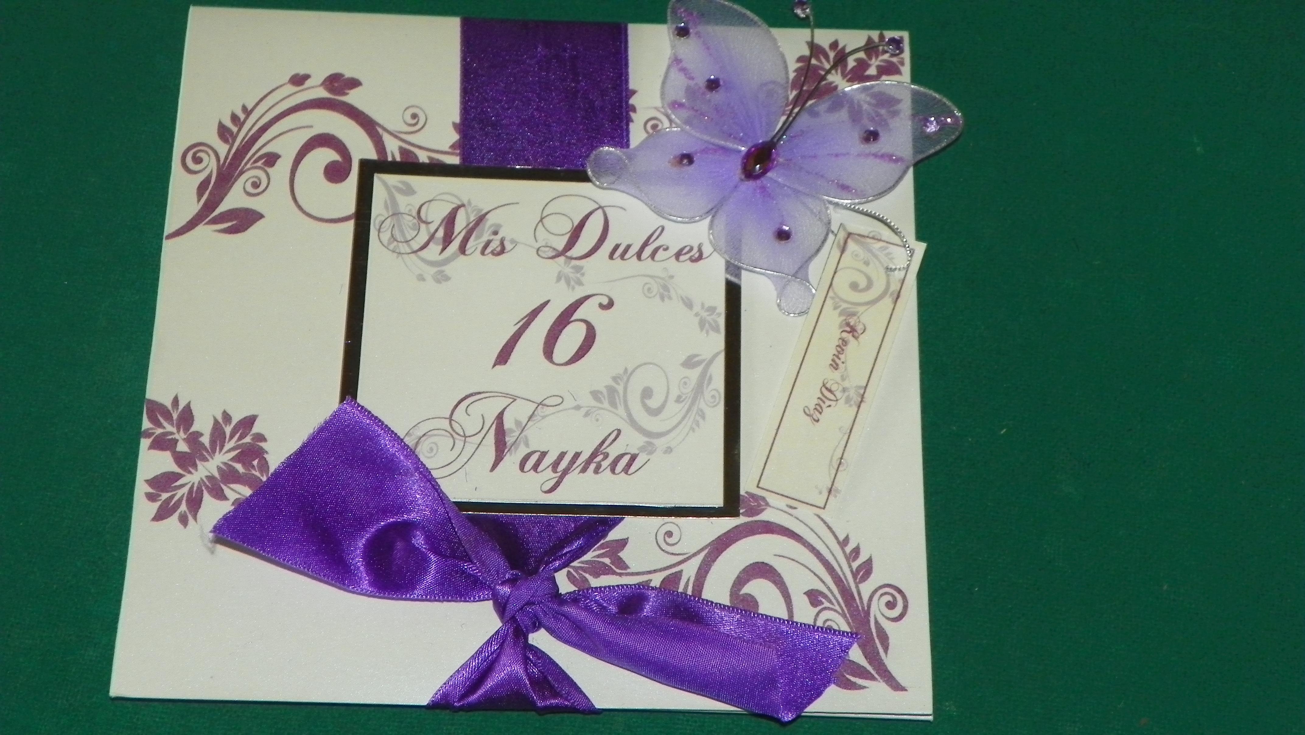 tarjetas de invitacion 15 anos de mariposa